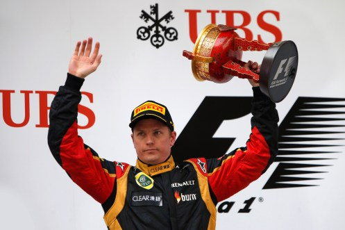 A 2nd placed finish for Kimi Raikkonen, Lotus F1.