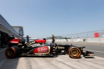 Wednesday 16th July 2013 Nicolas Prost, Lotus E21 Renault leaves the pits