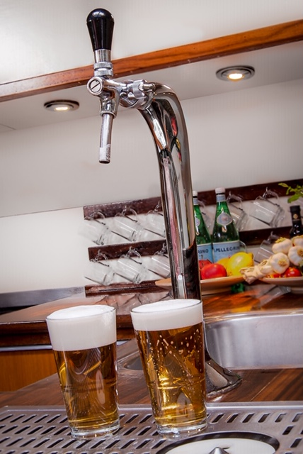 Beer draft on board of our sailingships