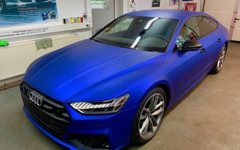 Audi A7 Blue Matt