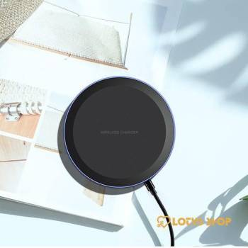 Round Shaped Qi Wireless Charger for Smartphones Accessories Chargers Mobile Phones color: 10W 5W