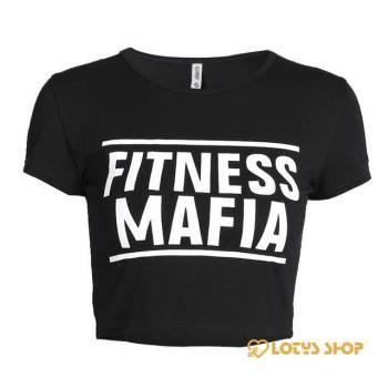 Fitness Mafia Print Women's Crop T-Shirt Sport items Women Sport Tops Women's sport items Women's T-Shirts color: A1