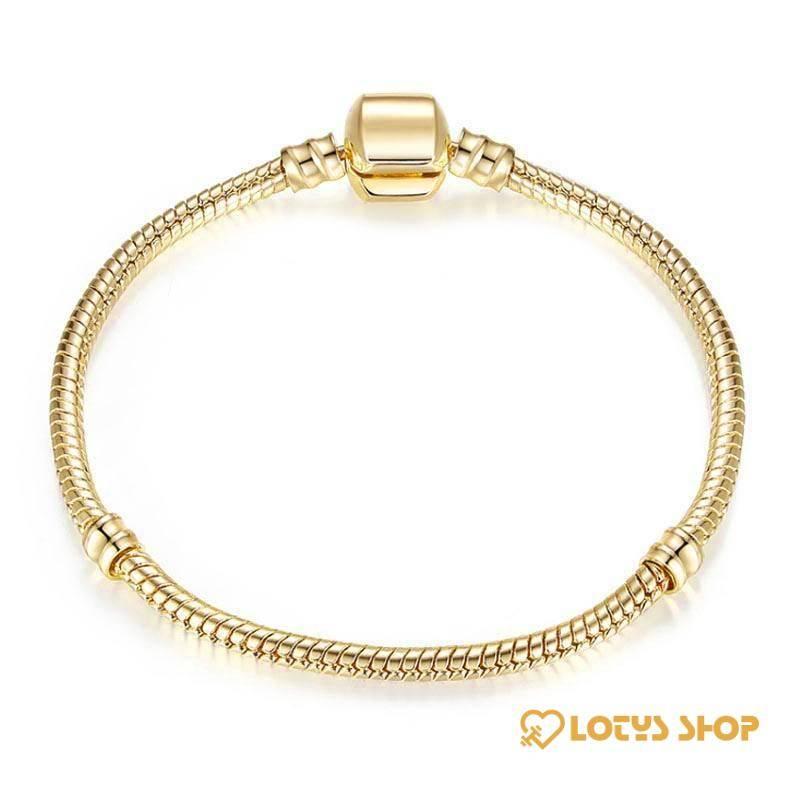 Women's Snake Chain Charm Bracelet