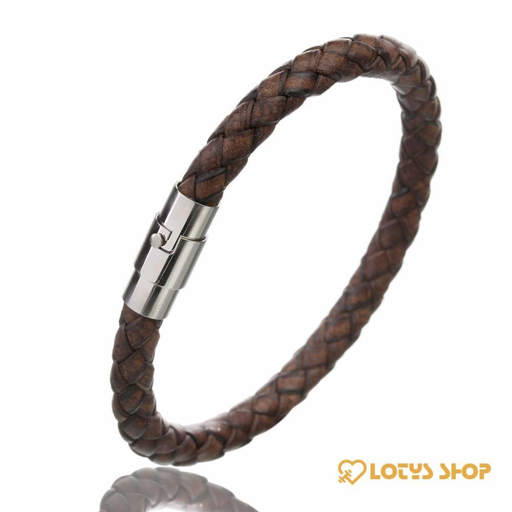 Braided Wristband for Men with Magnetic Clasp Accessories Jewelry 8d255f28538fbae46aeae7: Beige Gold|Beige Silver|Black|Black Gold|Black Silver|Blue|Dark Coffee Gold|Dark Coffee Silver|Light Coffee Gold|Light Coffee Silver|Wine Red Gold|Wine Red Silver