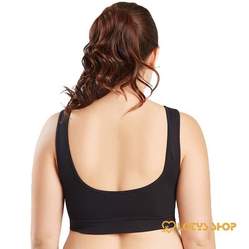 Breathable Plus Size Sports Bra Sport items Sports Bras Women's sport items color: Beige|Black|White