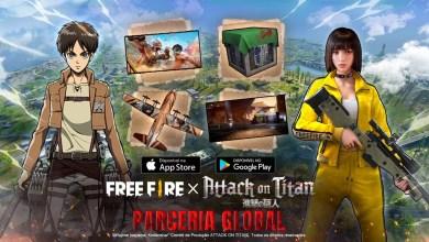 Free Fire e Attack on Titan