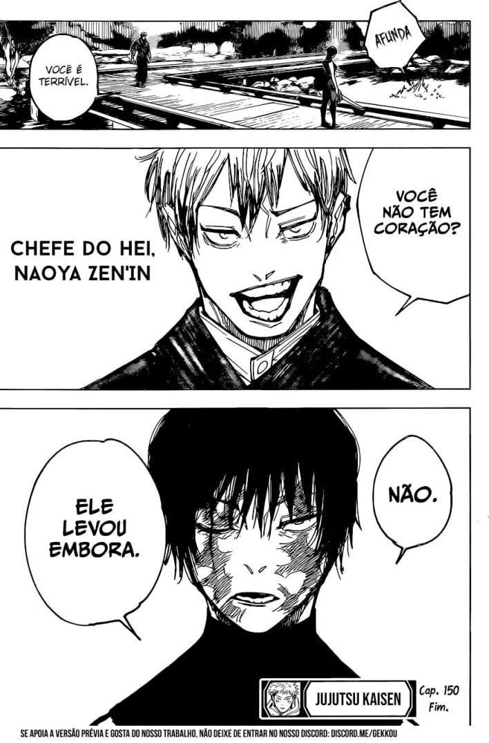 Capítulo 150 de Jujutsu Kaisen - Maki