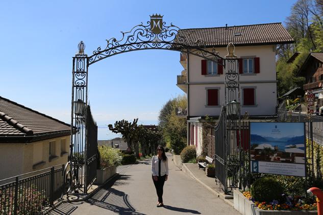 Entrada do hotel Le Mirador