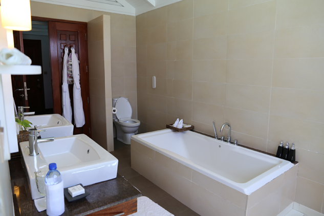 O banheiro do bangalô