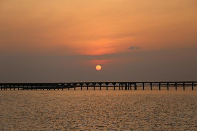 Nascer do sol visto do nosso bangalô