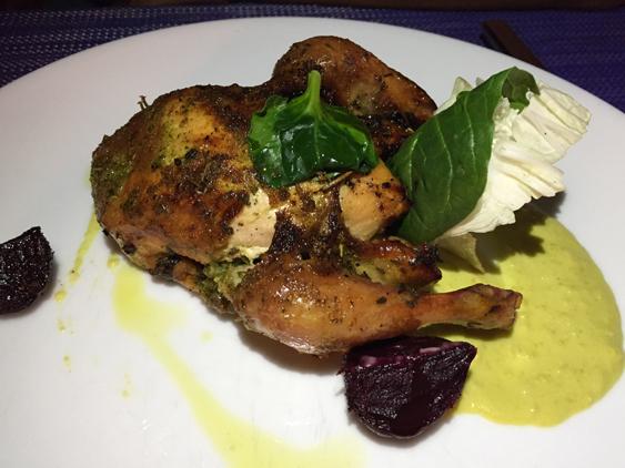 jantar no restaurante Terrazzo