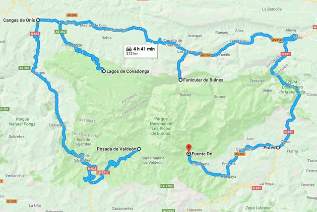 picos da europa espanha mapa Roteiro de 5 dias no Parque Picos de Europa   Espanha   Loucos por  picos da europa espanha mapa