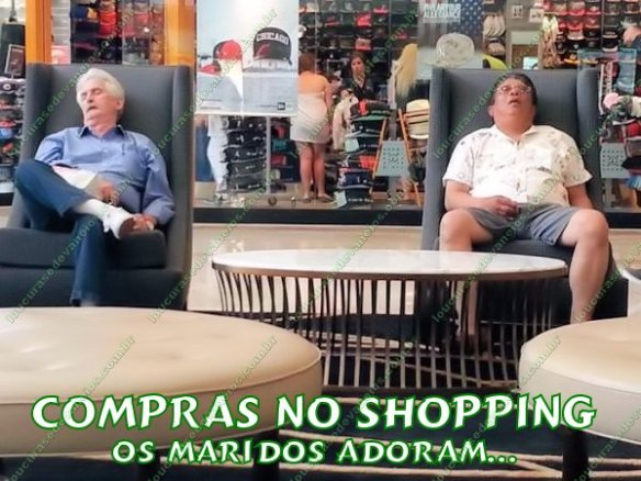 maridos durante as compras