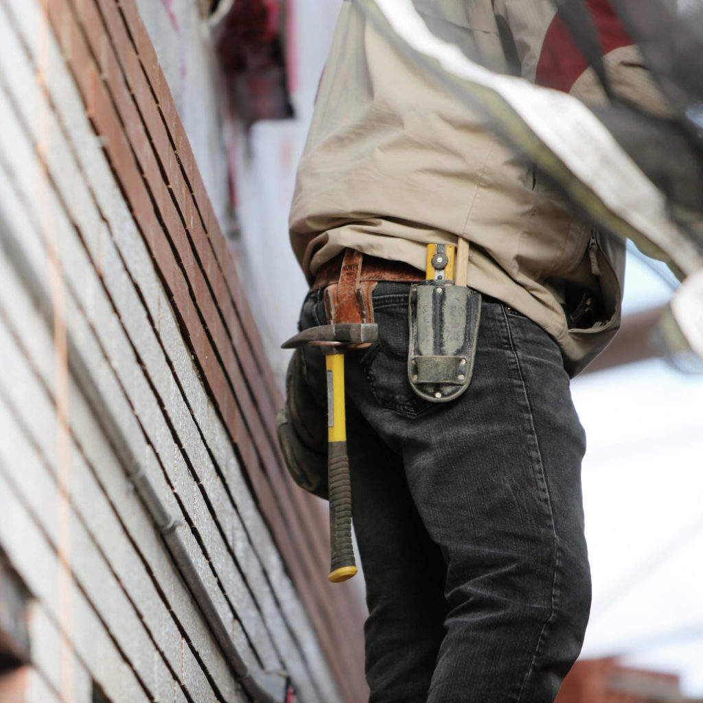 man with tools on tool belt