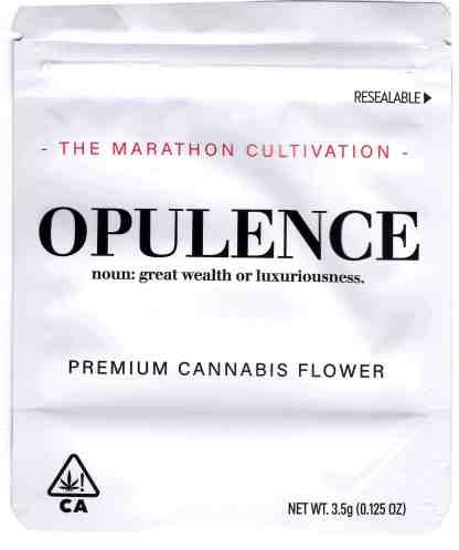 The Marathon - Opulence Mylar Bag (front)