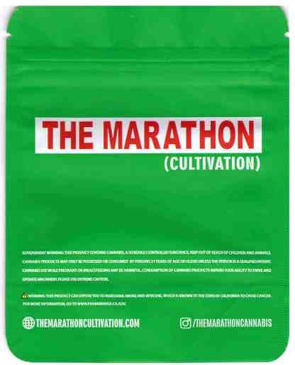The Marathon - Original Cookies Mylar Bag (back)