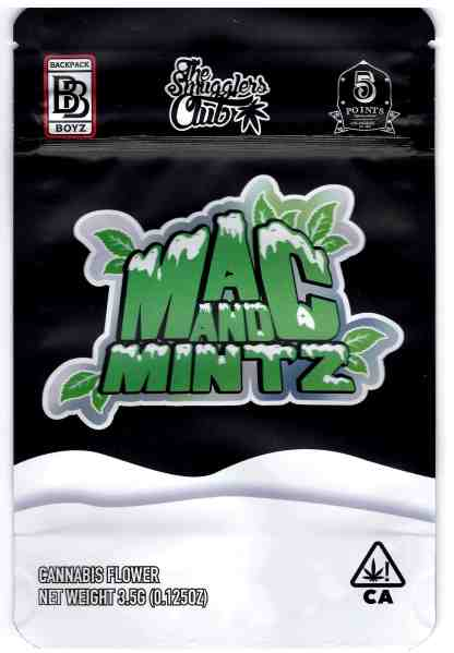 Backpack Boyz - Mac and Mints Mylar Bags (front)