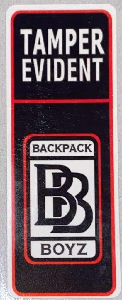 Backpack Boyz Tamper Seal Sticker