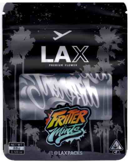 LAX - Fritter Mints Mylar Bag (front)