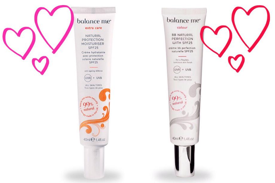 Balance Me SPF25 moisturiser and BB cream..