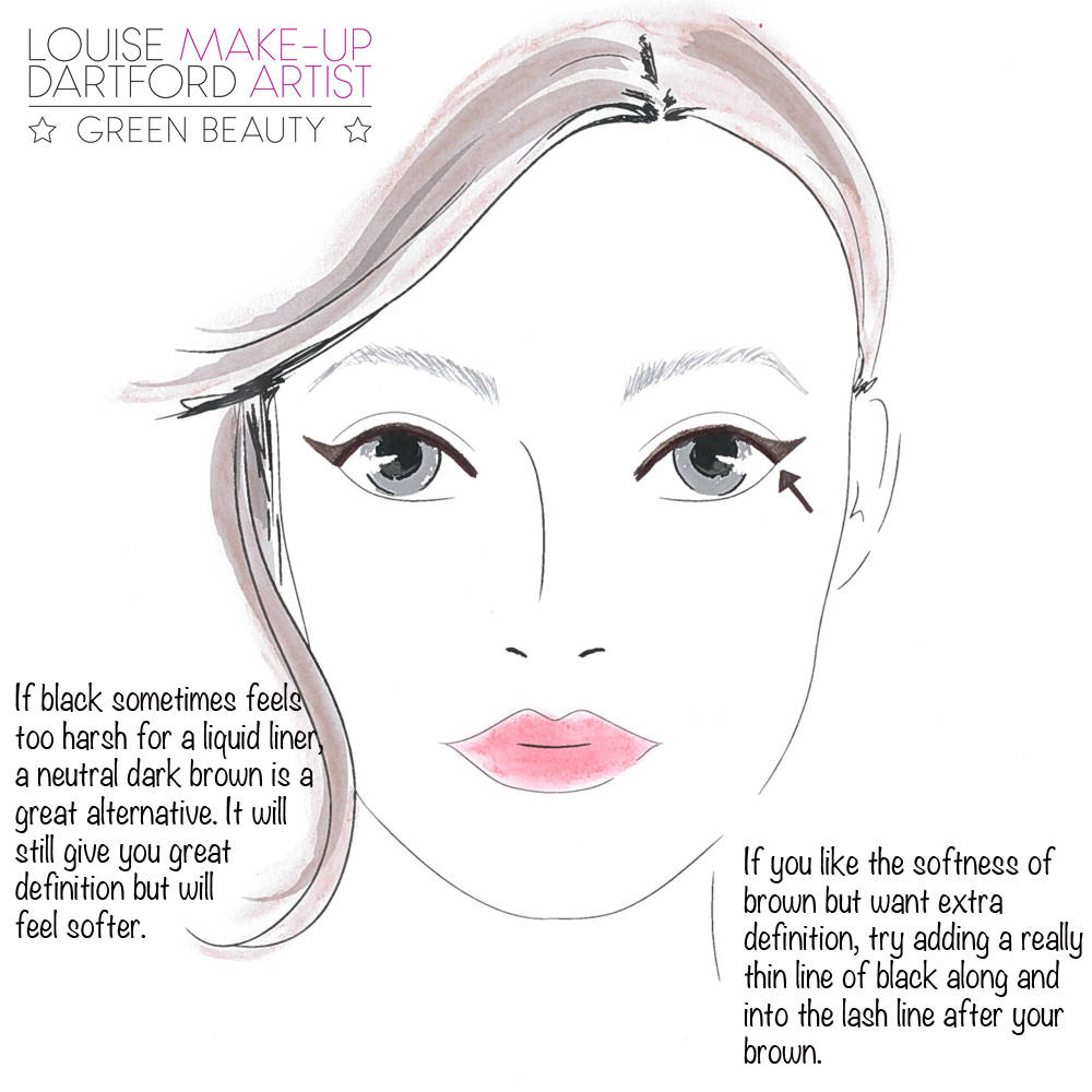 brown eyeliner tip