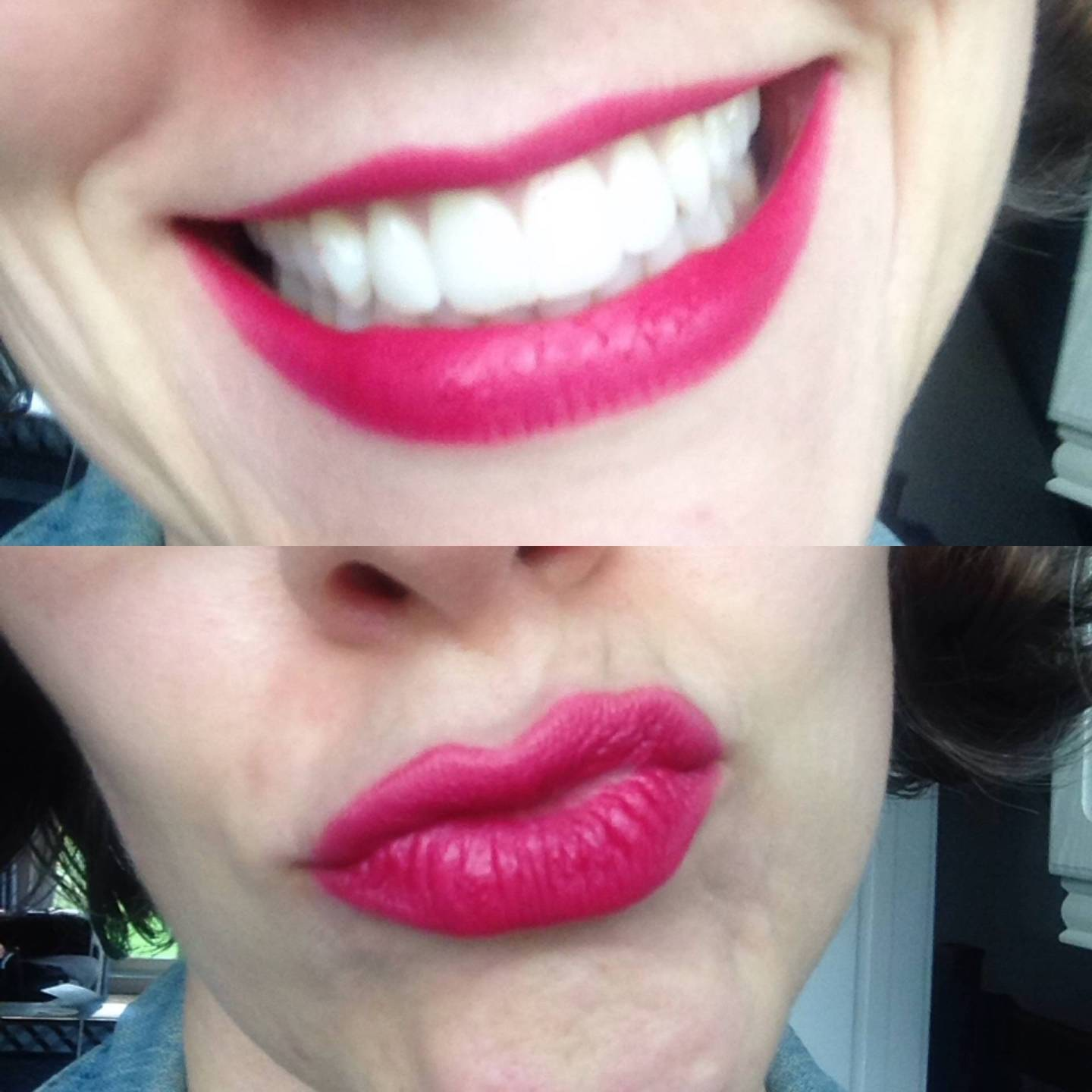 Currently wearing Colorisi lipstick in Cerise..