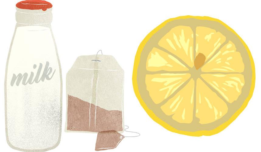 Builder's Tea V Hot Water and Lemon..
