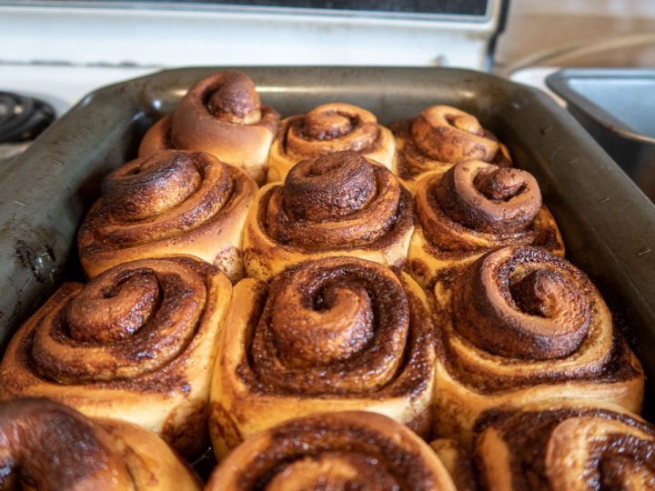 unfrosted cinnamon rolls