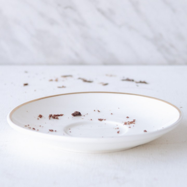 emply plate with crumbs