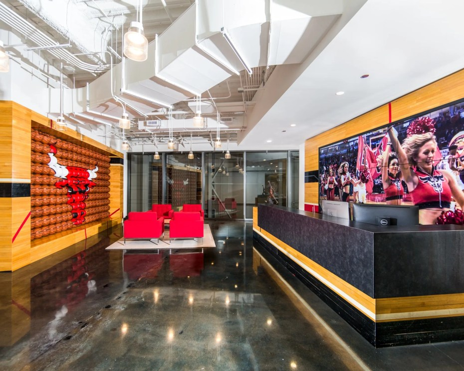 brand new corporate office for the Chicago Bulls photographed by digital marketing company, Loudbyte