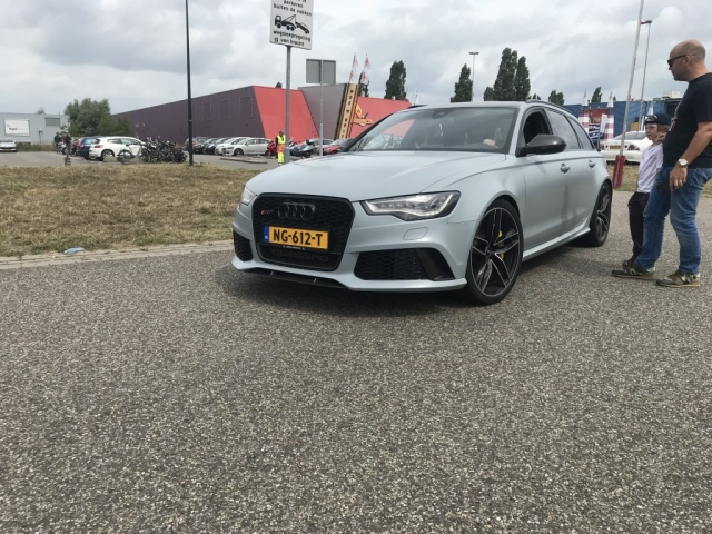 Audi RS6 driving
