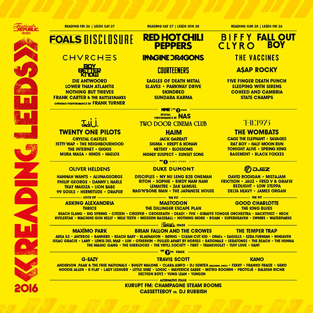 Reading and Leeds stage splits