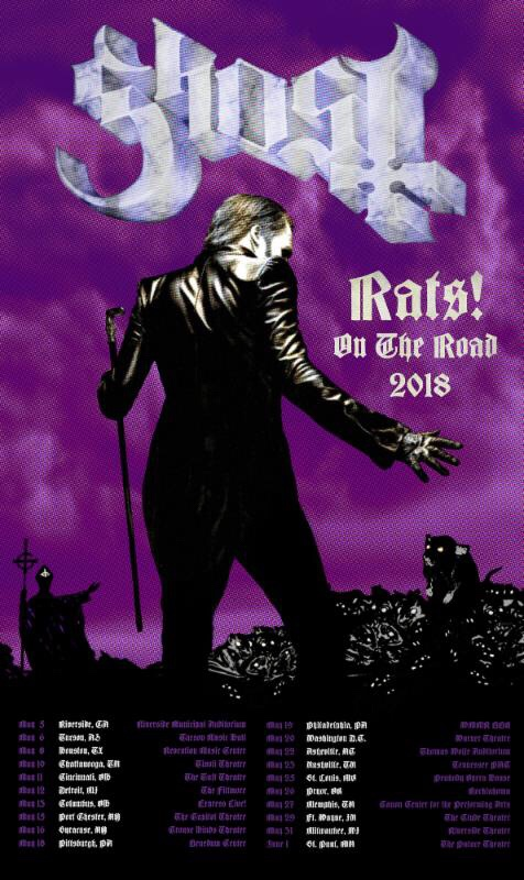 Ghost announce Rats on the Road US tour