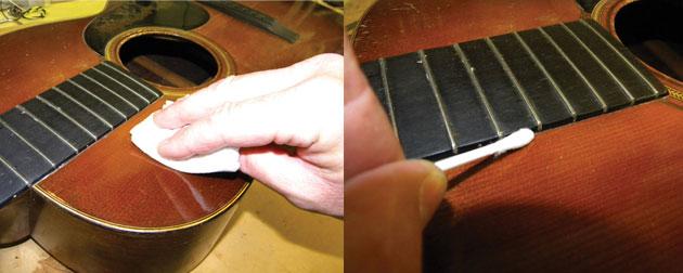 Cuidados com pintura da guitarra