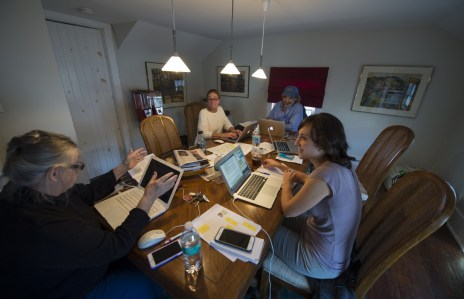 Founding members of Loudoun Now work on deadline for the first edition Nov. 10, 2015.[Douglas Graham/Loudoun Now]