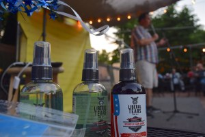 A special brand of gun oil was distributed during the July 6 Trump Unity Rally at The Cajun Experience in Leesburg.