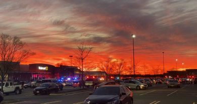 Parking Lot of Dulles Walmart after three people were shot