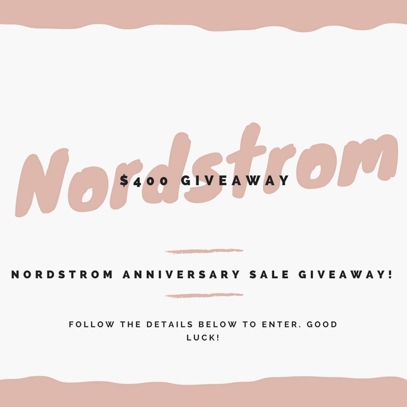 Nordstrom Anniversary Sale $400 Giveaway