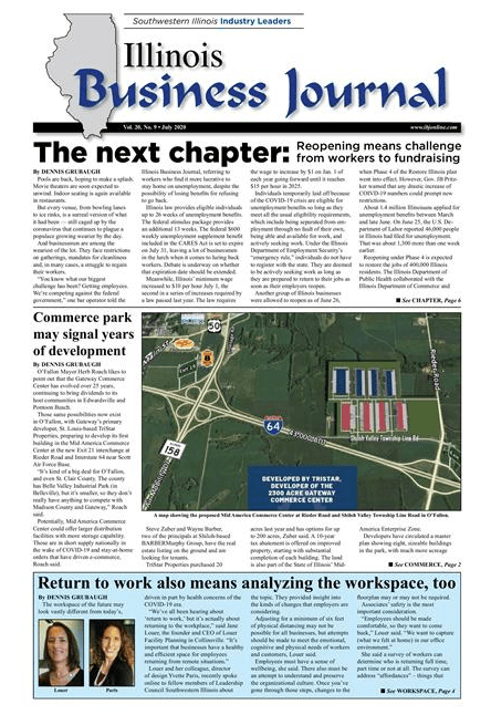 Illinois Business Journal article with Louer Facility Planning