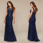 Abend Elegant Kleid Lang Blau BoutiqueDesigner Einfach Kleid Lang Blau Boutique