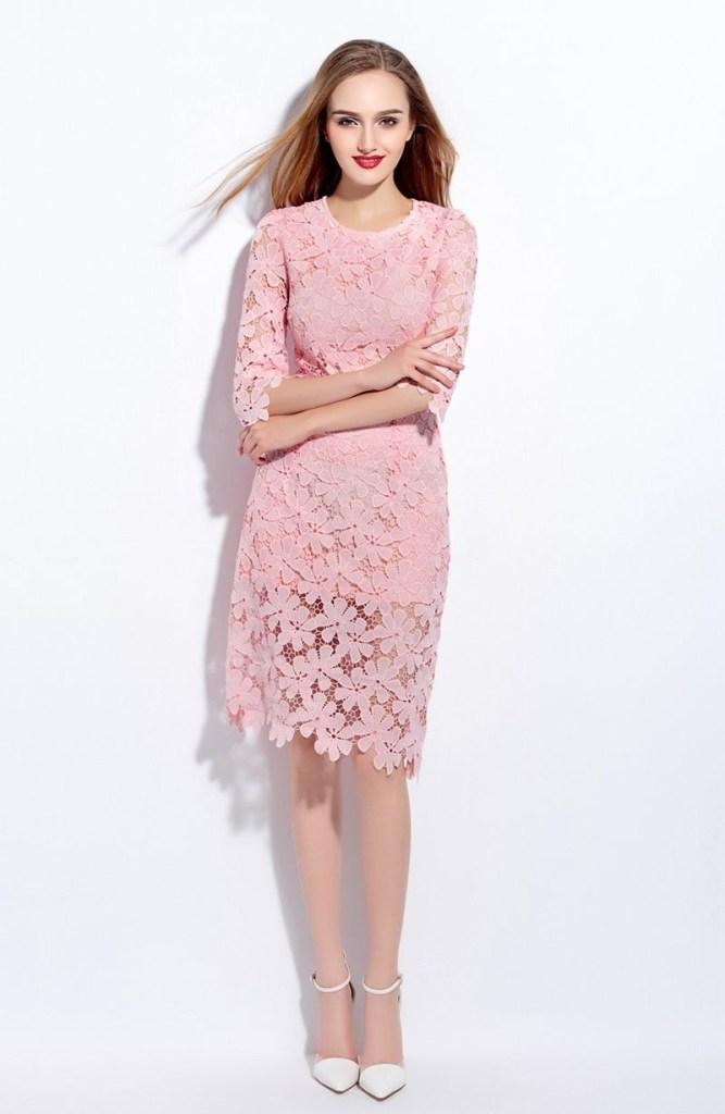 2d79c0f4a9ba Formal Schön Rosa Kleid Spitze Vertrieb   10 Fantastisch Rosa Kleid Spitze  Boutique