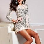 17 Großartig Abendkleid Pailletten Kurz Boutique15 Luxus Abendkleid Pailletten Kurz Ärmel