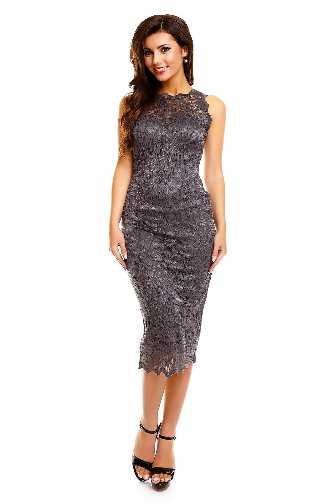Spitzenkleid schwarz lang - Stylische Kleider für jeden tag