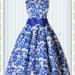 Formal Perfekt Kleid Blau Blumen Design Schön Kleid Blau Blumen Boutique
