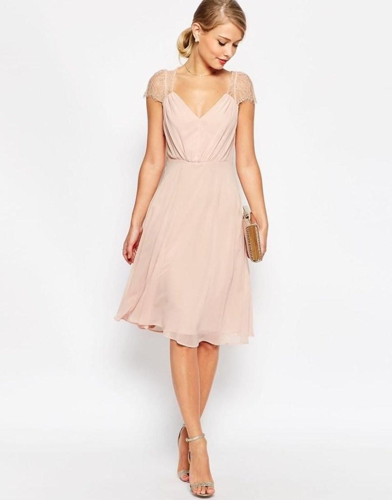 15 Genial Rosa Kleid Hochzeitsgast Design Abendkleid