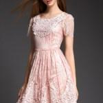 Formal Leicht Kleid Spitze Altrosa DesignAbend Cool Kleid Spitze Altrosa Design