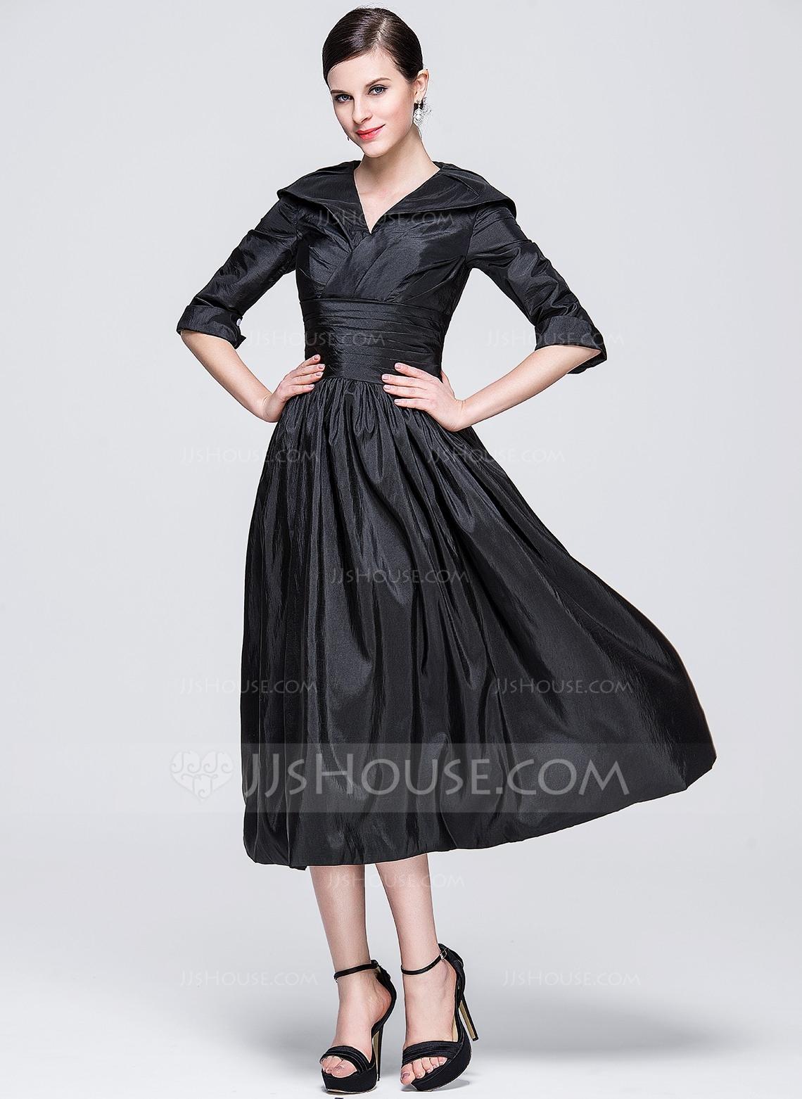 Wadenlange festliche kleider mit armel