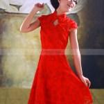 Abend Genial Kleid Rot Spitze BoutiqueDesigner Erstaunlich Kleid Rot Spitze Galerie