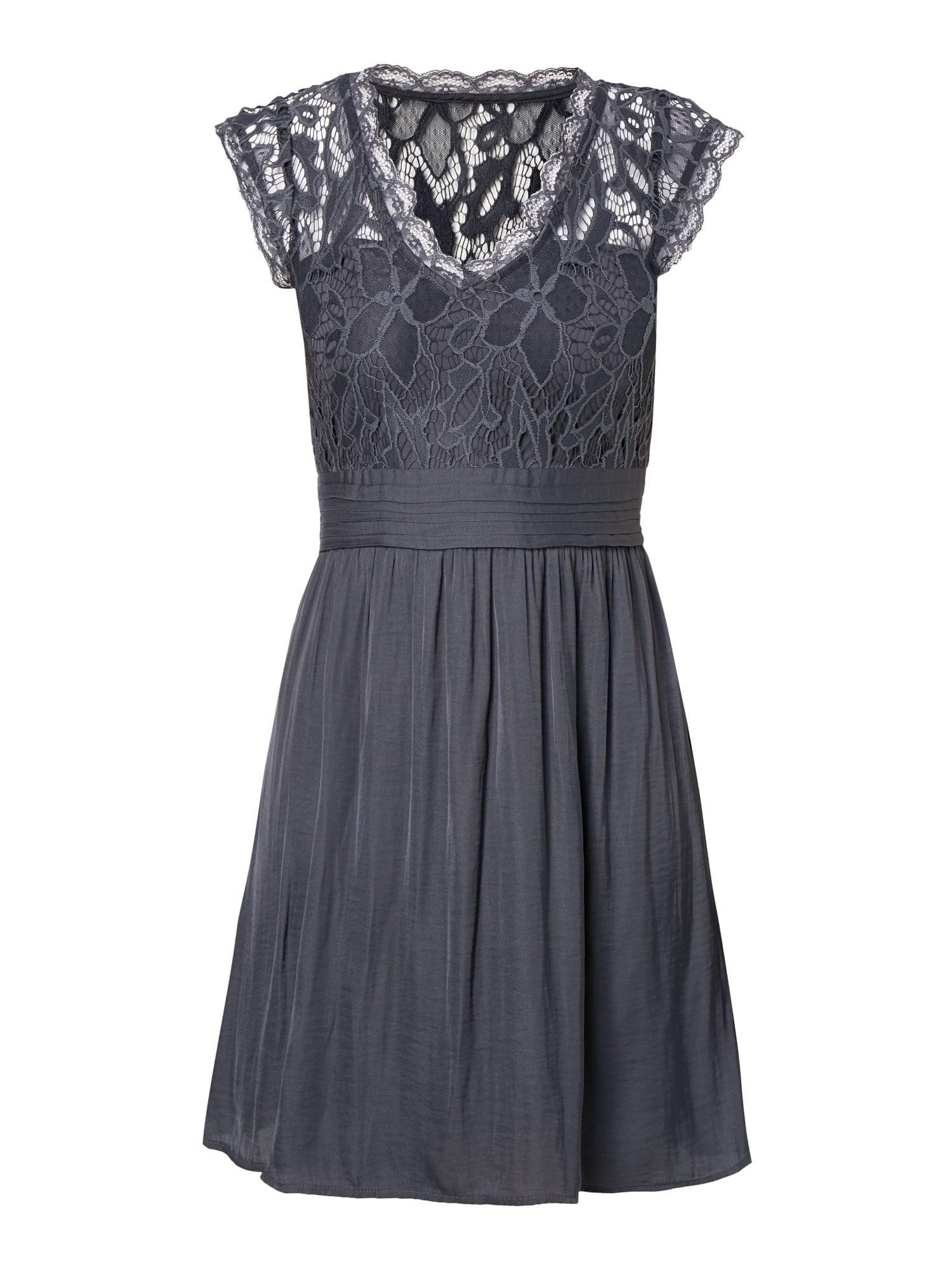 Abend Schön Blaues Kleid Mit Spitze Boutique - Abendkleid