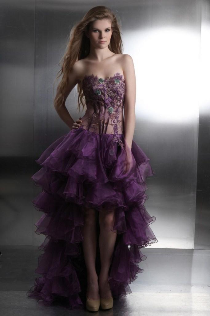 Abend Schön Kleid Lang Lila Boutique - Abendkleid